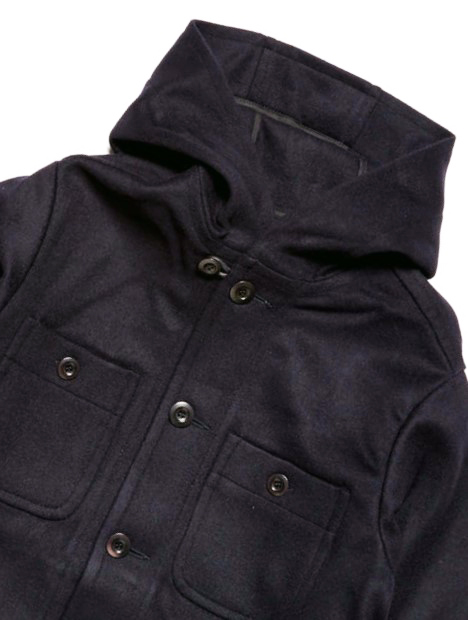 Courtney & Co. Tewkesbury 310 - 171 Black corozo buttons on a Forge Denim black jacket