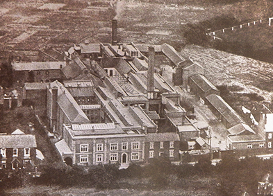 Aerial photograph of the James Grove factory