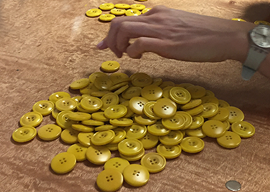 Sorting corozo buttons
